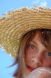 Portrait - - - Lichtpunkte und Sommersprossen
