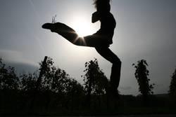 Sprung über die Sonne