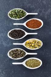 Variety of Dried Tea Leaves