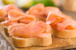 Smoked Salmon on Baguette