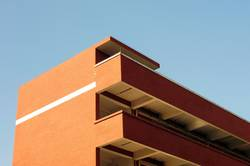 Roof details of a modern building