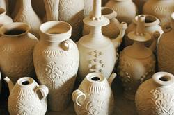 Raw pottery Jugs and Vases