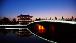 Night scenes of the famous ancient city of Xian, China