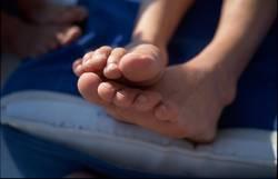 Füße in der Sonne