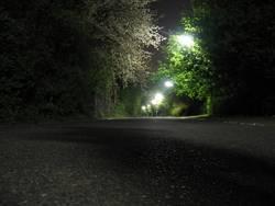 Einsame Wege bei Nacht
