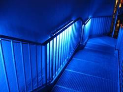Blaue Treppen