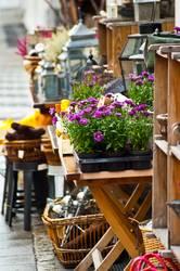 Laden Geschäft Auslage Dekoration, Blumen, Antik & Trödel