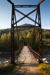 Alte Brücke in der Wildniss