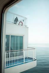 Balkon mit Meer