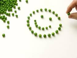 Smily Gesunde Ernährung - Gemüse Erbsen