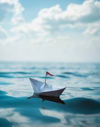 Ein Boot aus Papier