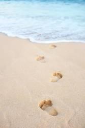 Fußspuren ins Meer