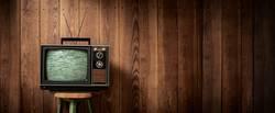 70er Jahre Fernseher mit Störung | XXL Panorama