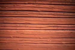 Alte Finnische Holzwand