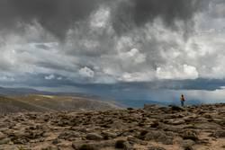 Wetterfront im Gebirge