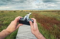 mit der Analog Kamera unterwegs - sicht aus der Ich-Perspektive