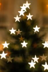 Weihnachtsbaum, abstrakt mit Sternchen