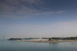 Burj Al Arab in der Ferne