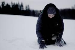 blinder passagier im schnee°