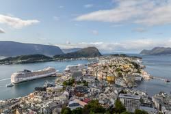 Alesund von oben (Norwegen)