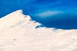 Mountain peak in snow