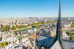 Paris cityscape with aerial architecture
