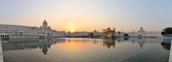 Sikh Golden Temple reflection, Amritsar, Punjab, India
