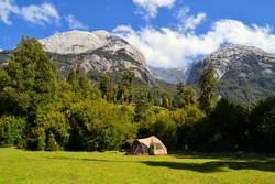 Basecamp for climbing and mountaineering in Patagonia, Chile