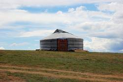 Traditional yurt tent home ger of Mongolian nomads