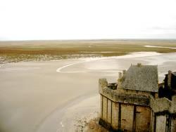 Ebbe um Mont Saint Michel, Normandie