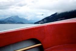 einnmal über den Bootsrand hinaus...