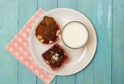Homemade Muffins and Milk