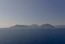 Griechische Insel in blau