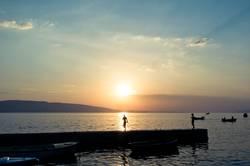 Sonnenuntergang an der Meeresküste