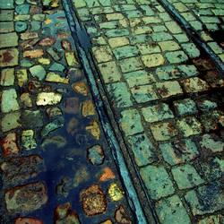 cobblestones und schienen
