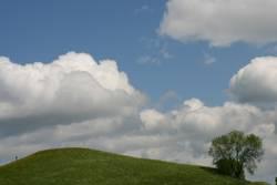 Wolken wie Watte
