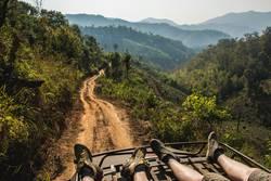 Reisen durch die Berge von Nord-Thailand
