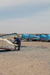 Boote in der Sahara