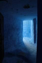 Blauer Eingang
