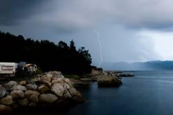 Blitz über Jorpeland