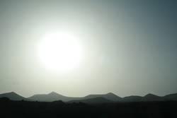 Sunshine over the hills