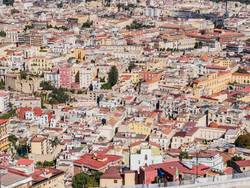 Top view of Naples panoramic view, Napoli, Italy