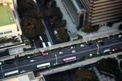 Miniaturansicht: Autostraße von oben – Tokyo, Japan