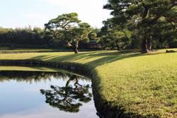 Korakuen Garden, Okayama – japanischer Garten im Spätsommer