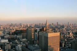 Skyline der Großstadt Tokyo – Abendstimmung Japan