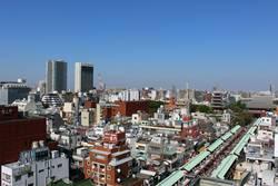Blick auf die Großstadt Tokyo, Japan