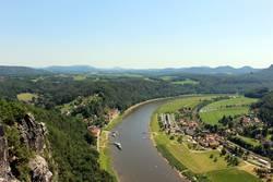 Elbeufer – Sächsische Schweiz, Elbsandsteingebrige