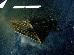 ALL IN ONE   strasse hochhaus spiegelung herbst regen pfütze