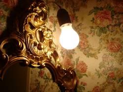 LICHT | birne light lamp leuchten hoffnung antik tapete spiegel