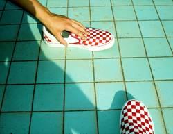QUADRAT | schuhe pool squares türkis sommer urlaub